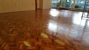 commercial wood floor sanding in London